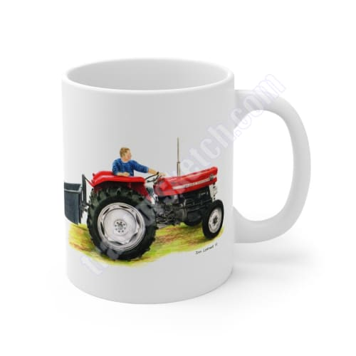 Massey Ferguson 135 & Linkbox Mug 11oz / Mugs / Tractor