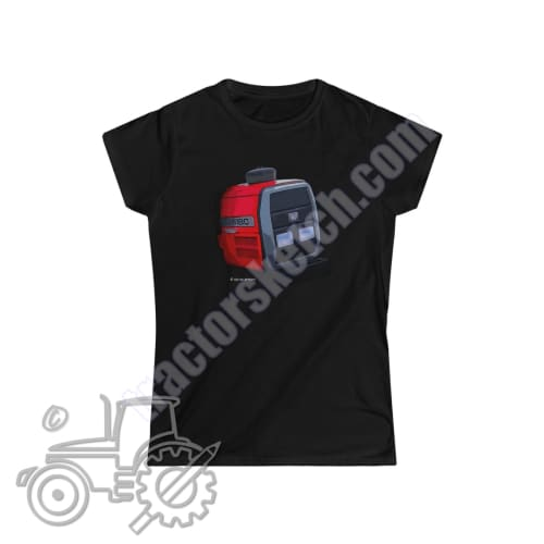 Massey Ferguson 6180 Ladies Softstyle T-Shirt - tractorsketch.com