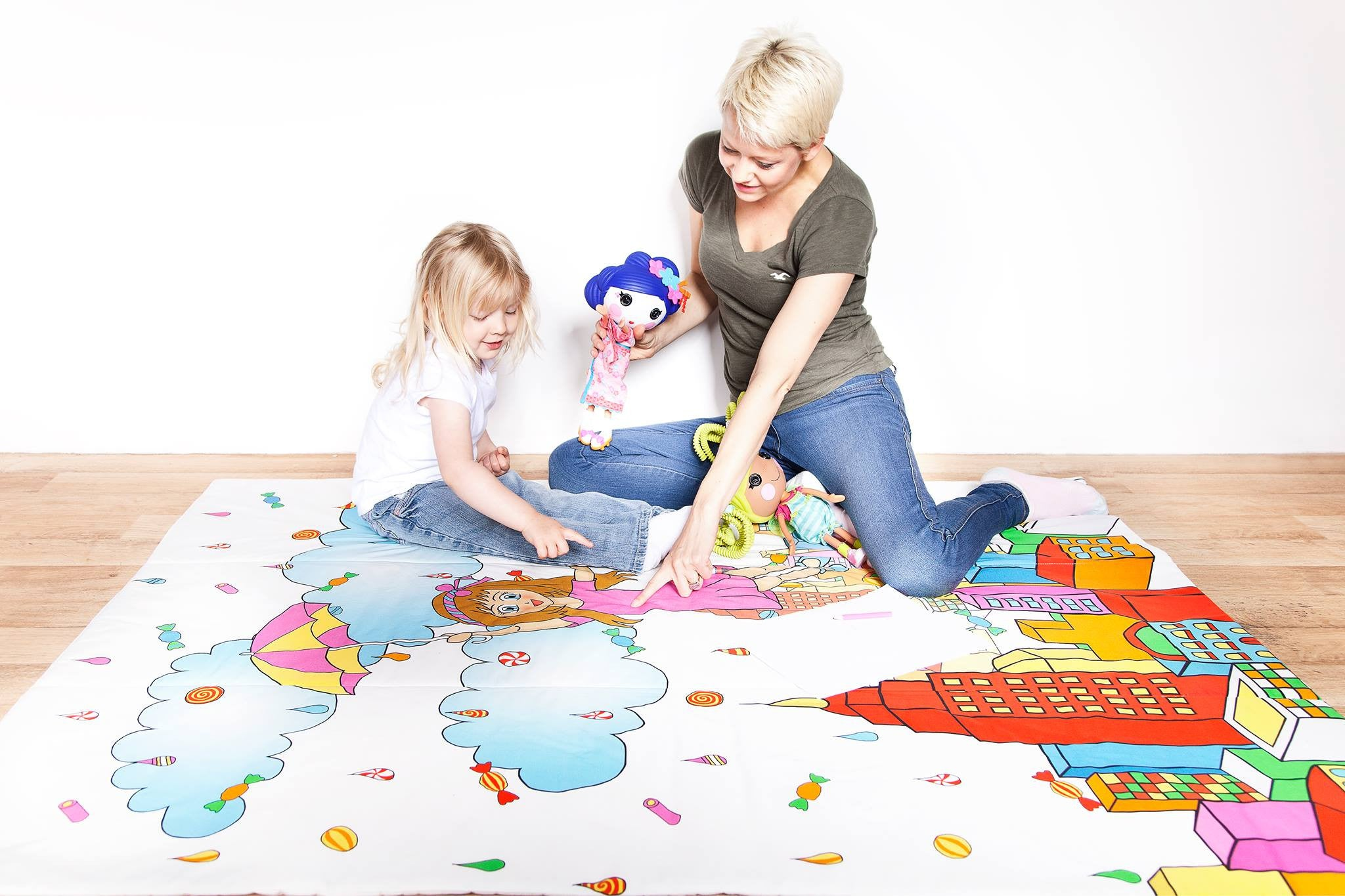 Candy Rain Kids Play Mat