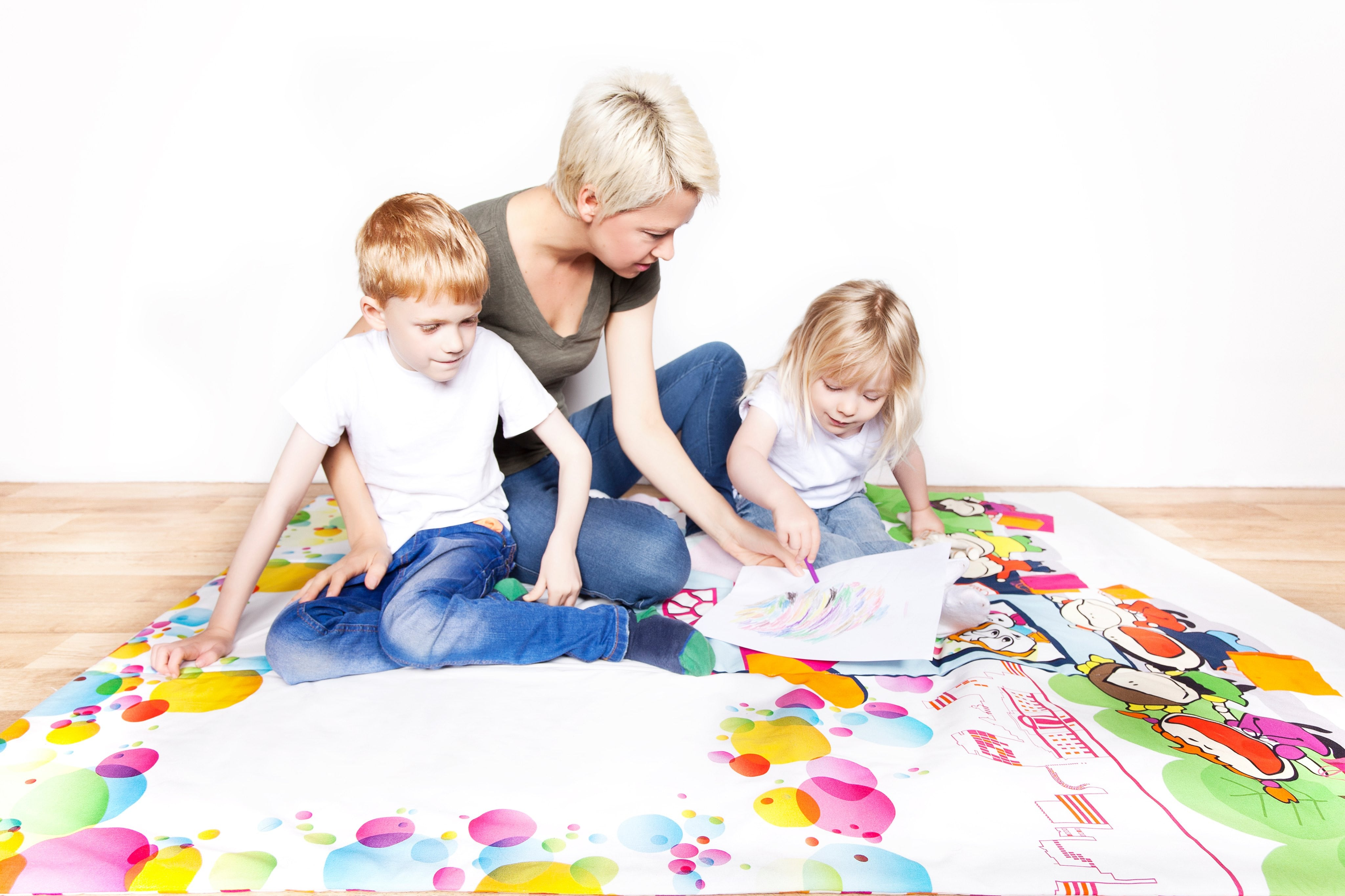 gender neutral activity playmat and educational playmat children sleepover travel staycation blanket