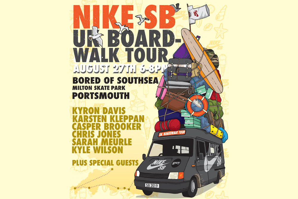 Nike SB UK Board-Walk Tour 2019 - HITS PORTSMOUTH 27th AUGUST!