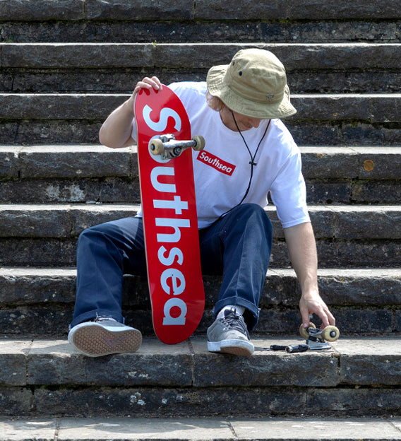 All new Southsea Box Logo decks and apparel