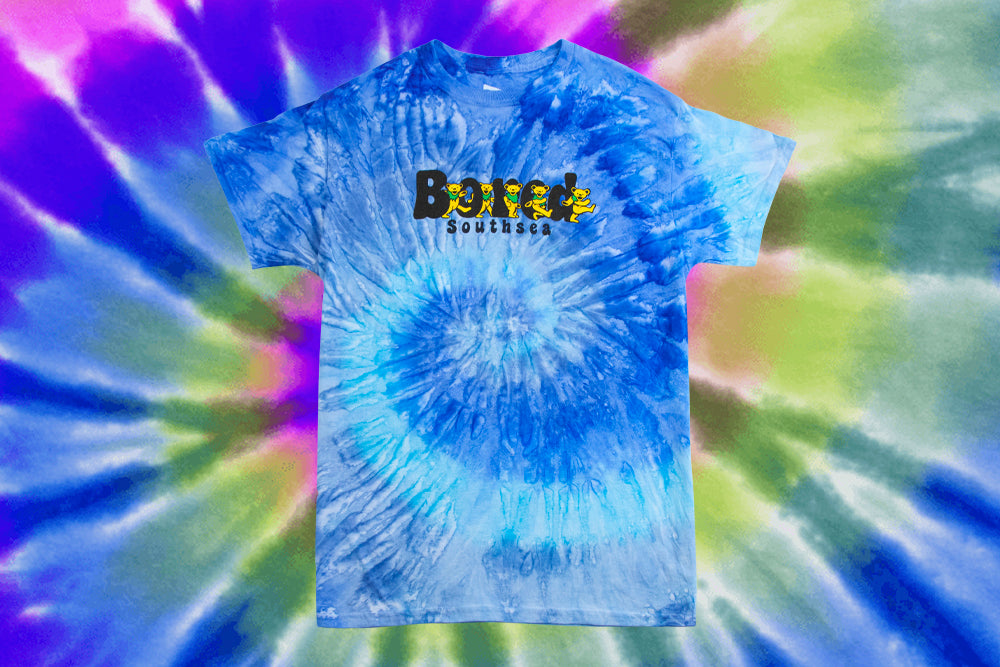 Bored of Southsea Bored Bears T Shirt - Tie Dye