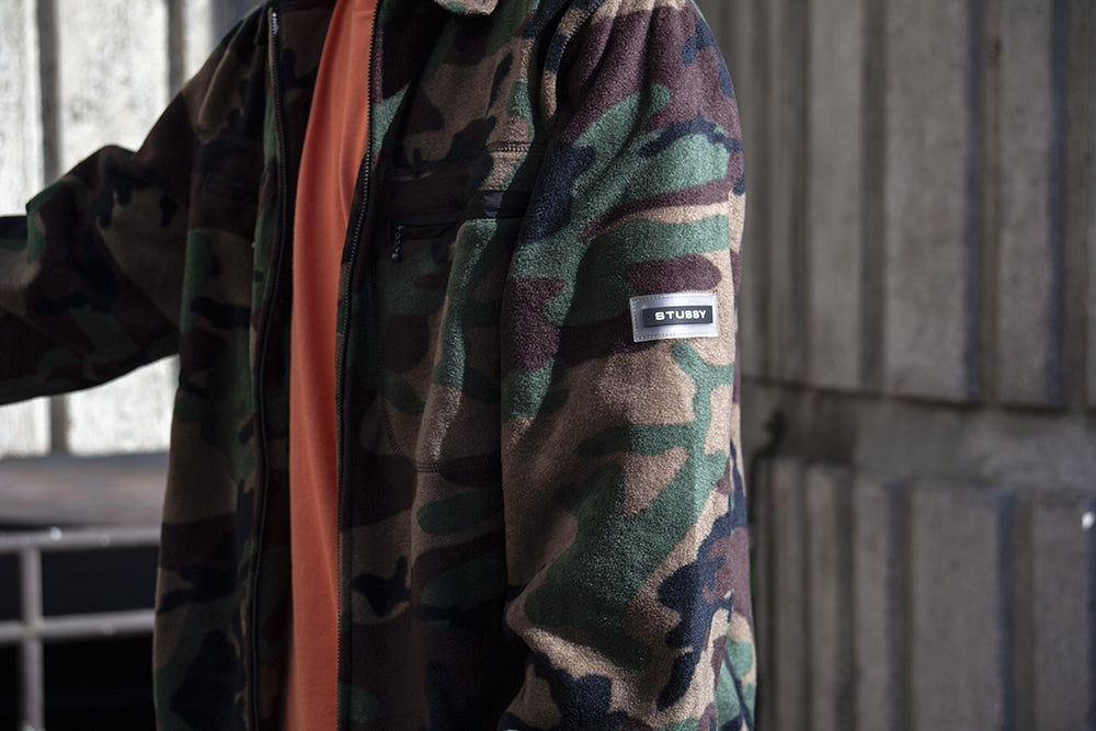 Stussy_Polar_Fleece_Full_Zip_Camo_2