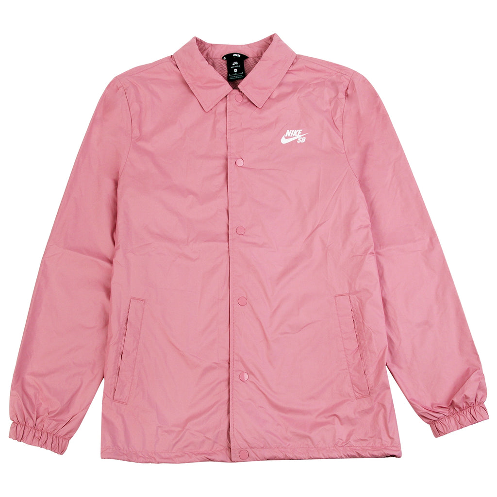 Nike SB Shield Coach Jacket in Elemental Pink / White