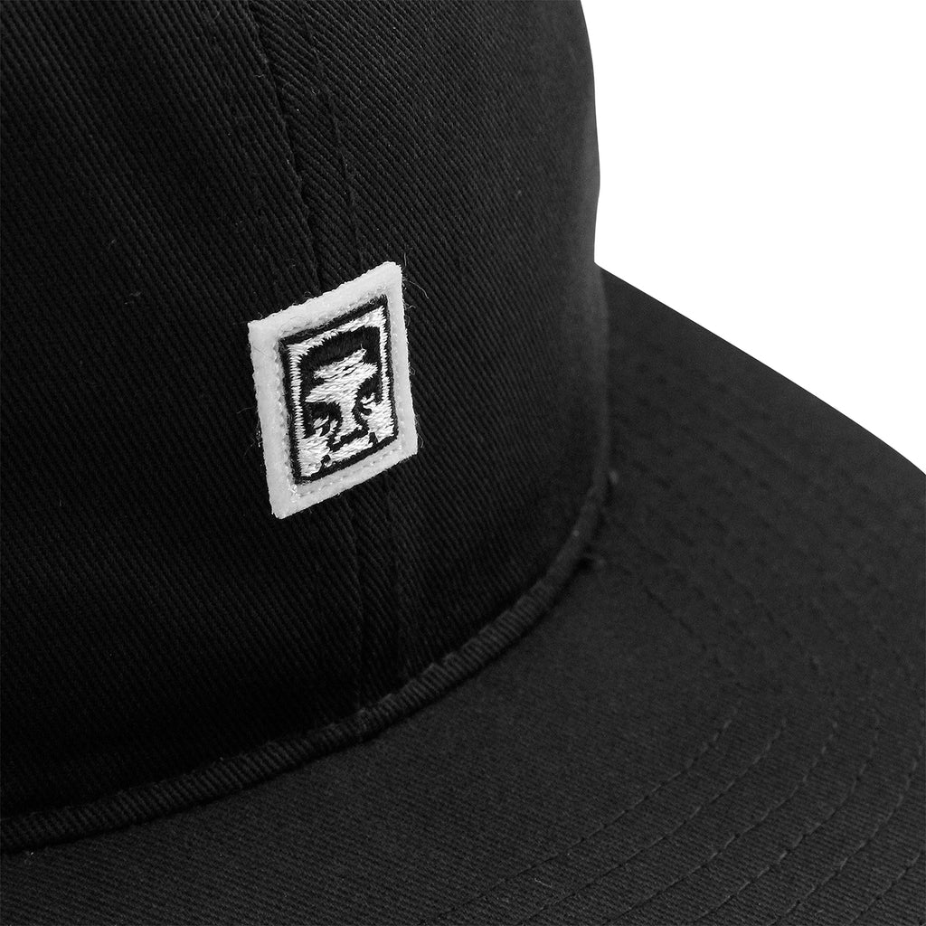 Obey Clothing Eighty Nine 6 Panel Cap in Black - Patch