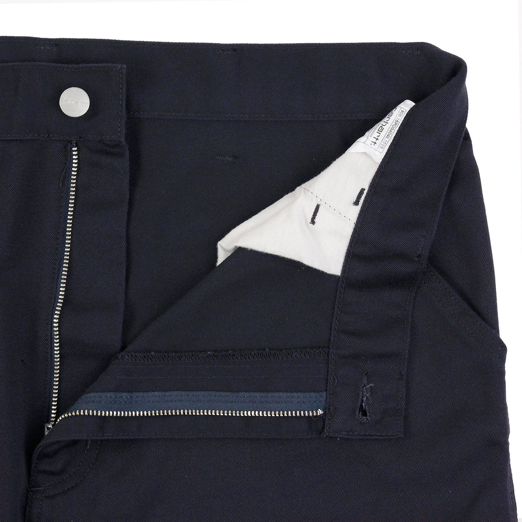 Carhartt Simple Pant in Dark Navy - Unzipped