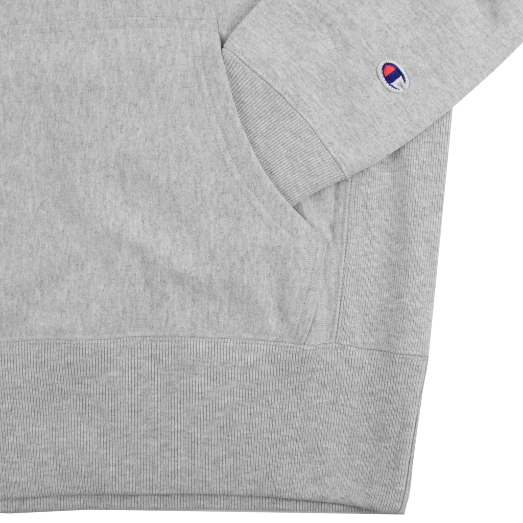 Champion Hooded Sweatshirt in Oxford Grey - Pocket