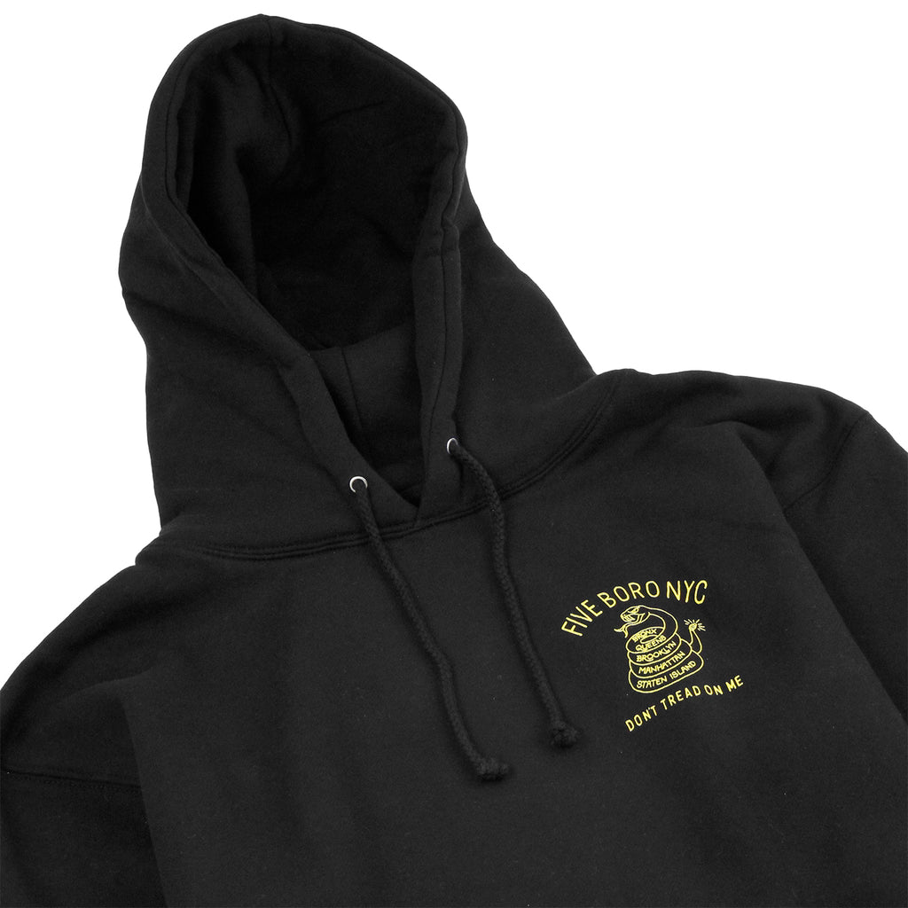 5Boro Don't Tread On Me Hoodie in Black / Yellow - Detail