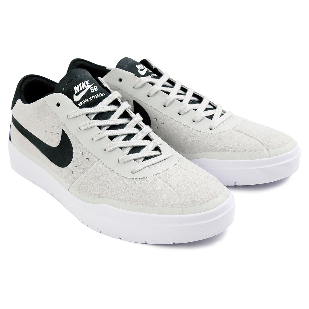 Nike SB Bruin Hyperfeel Shoes in Summit White / Black - White - Pair