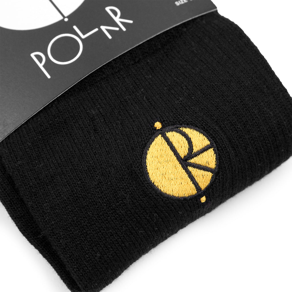 Polar Skate Co Technology Socks in Black / Yellow - Detail
