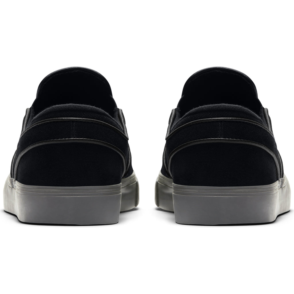 Nike SB Zoom Stefan Janoski Slip Shoes in Black / Black - Thunder Grey - Heel