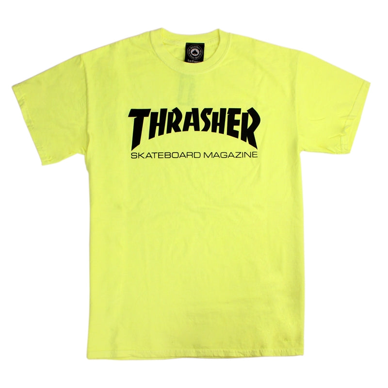 Thrasher Skate Mag Logo T Shirt in Neon Yellow