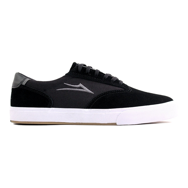 Lakai Guymar in Black / White Suede