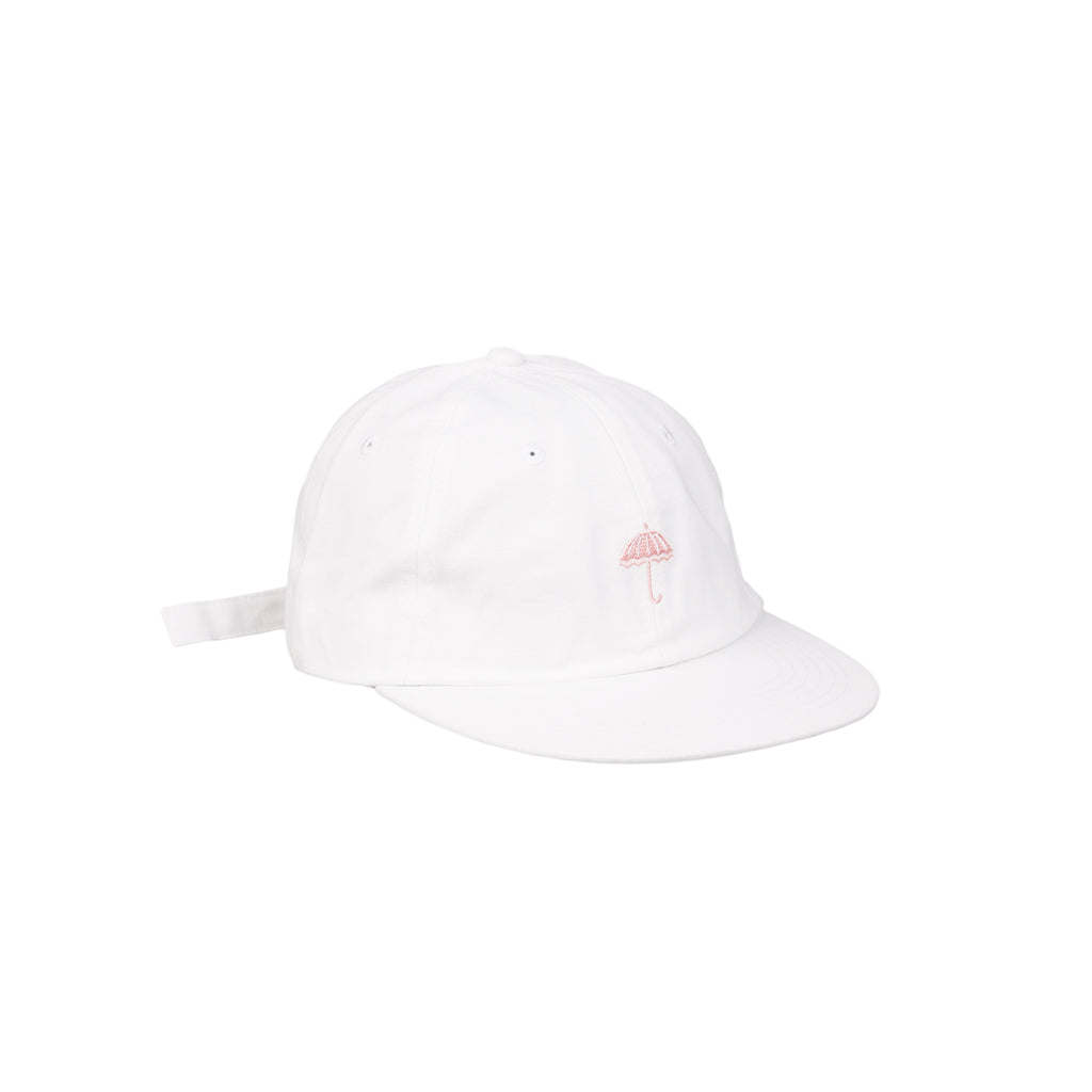 Helas Classic 6 Panel Cap in White / Pink