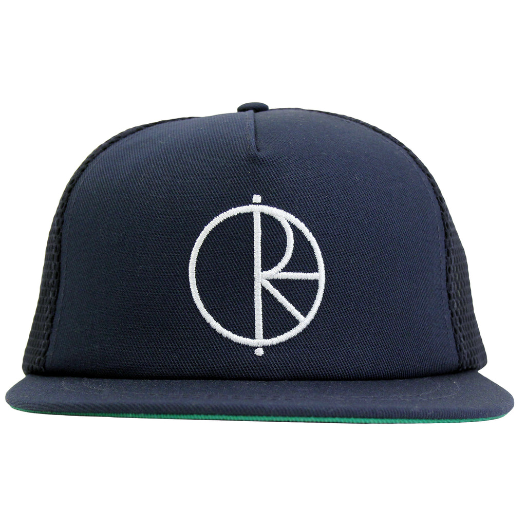 Polar Skate Co Trucker Snapback Hat in Navy / Green - Front