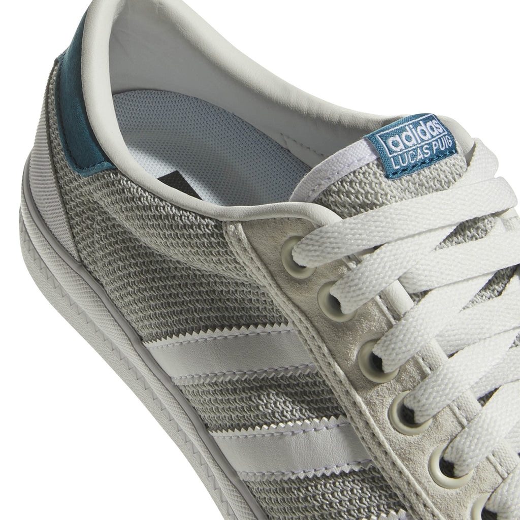 Adidas Lucas Premiere Shoes in Footwear White / Solid Grey / Real Teal - Detail