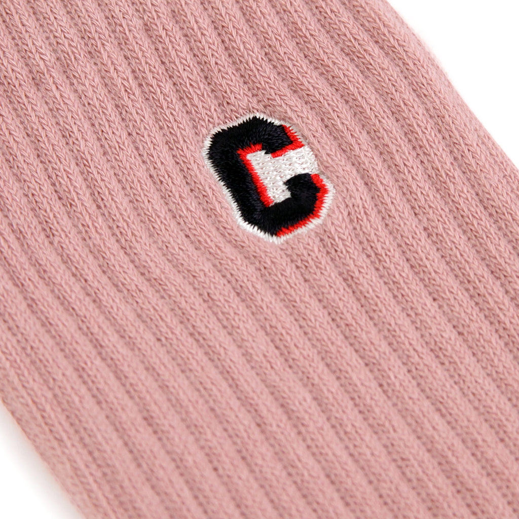 Carhartt Prior Socks in Soft Rose - Embroidery