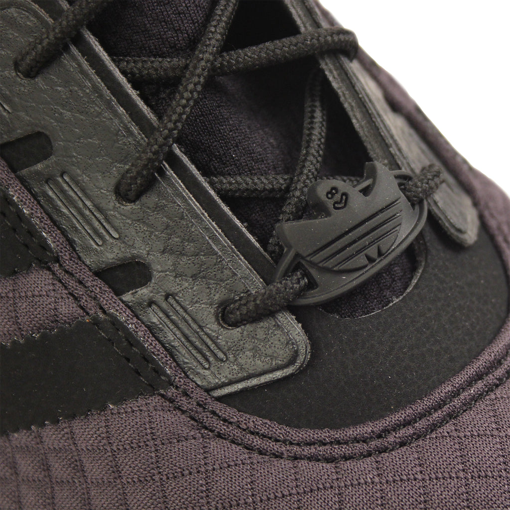 Adidas Skateboarding ZX Gonz Shoes in Carbon / Core Black / Core Black - Detail 2
