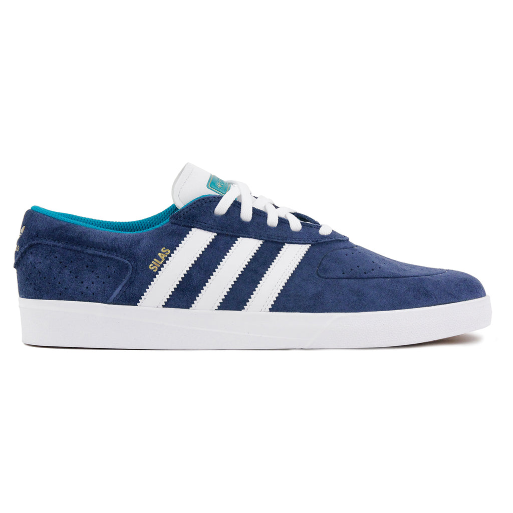 Adidas Skateboarding Silas Vulc ADV Shoes - Collegiate Navy / White /Gold MT