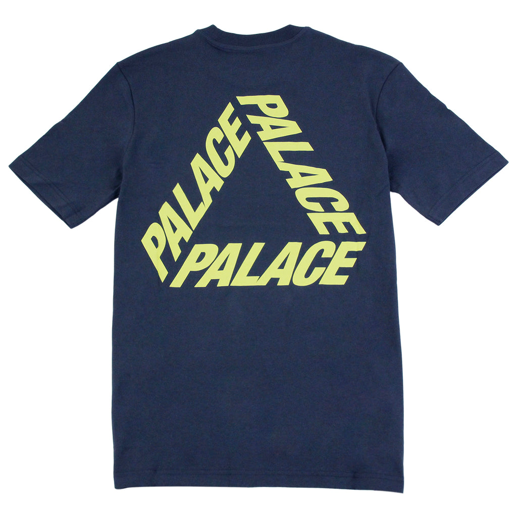 Palace P 3 T Shirt in Navy / Yellow - Back