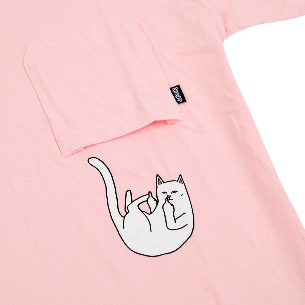 RIPNDIP Falling For Nermal T Shirt in Pink - Pocket