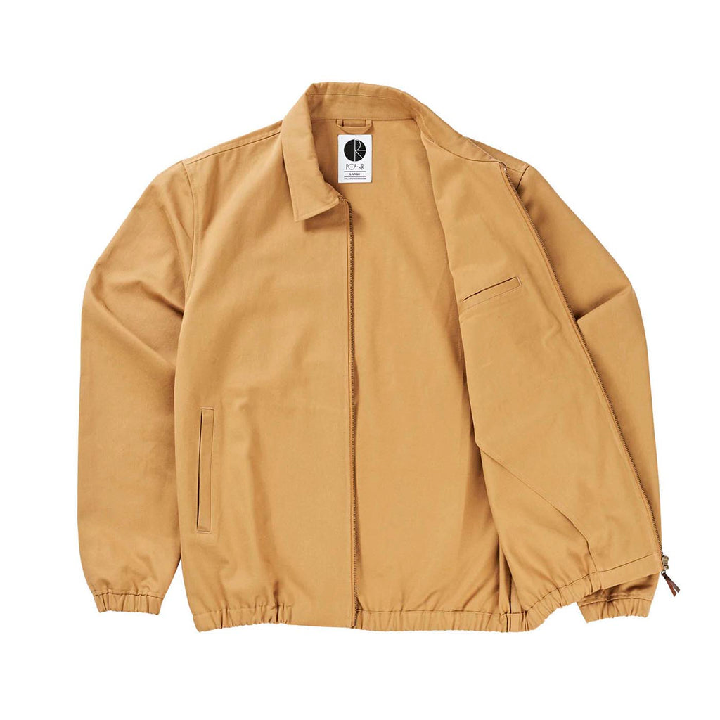 Polar Skate Co Herrington Jacket in Golden Brown - Open