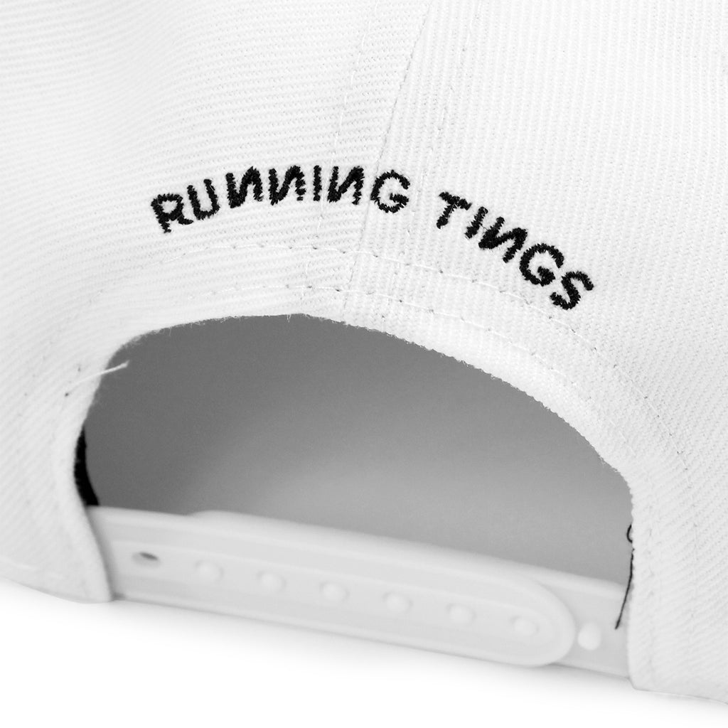 Palace Running Tings Snapback Hat in White - Back