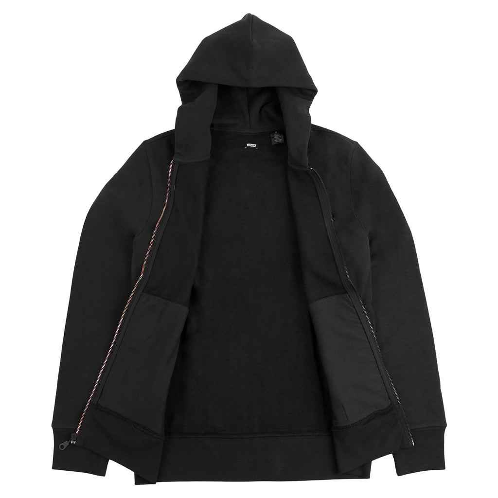 Levis Skateboarding Full Zip Hoodie in Jet Black - Open