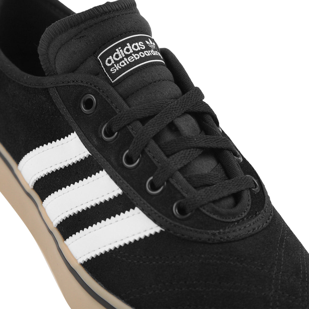 Adidas Skateboarding Adi Ease Premiere Shoes in Core Black / FTW White / Gum - Detail