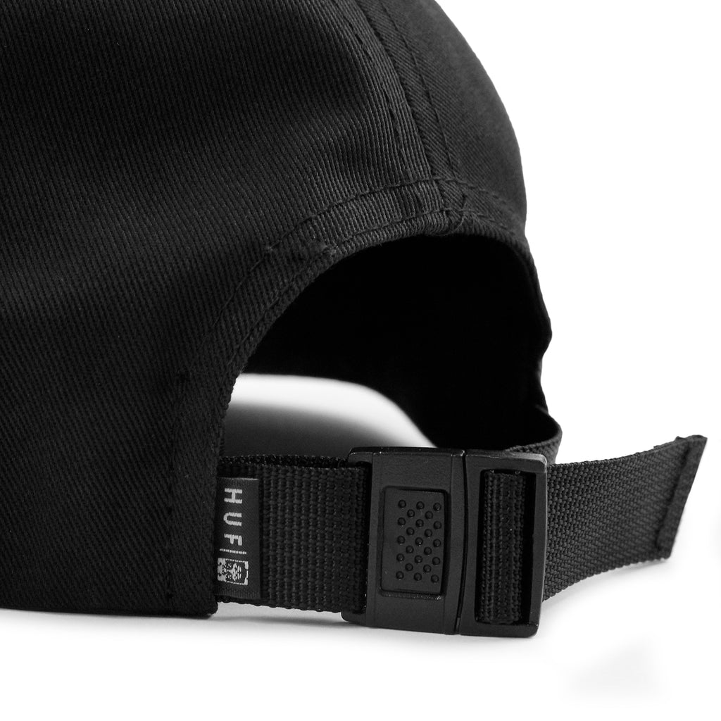 HUF x Obey 6 Panel Cap in Black - Strap