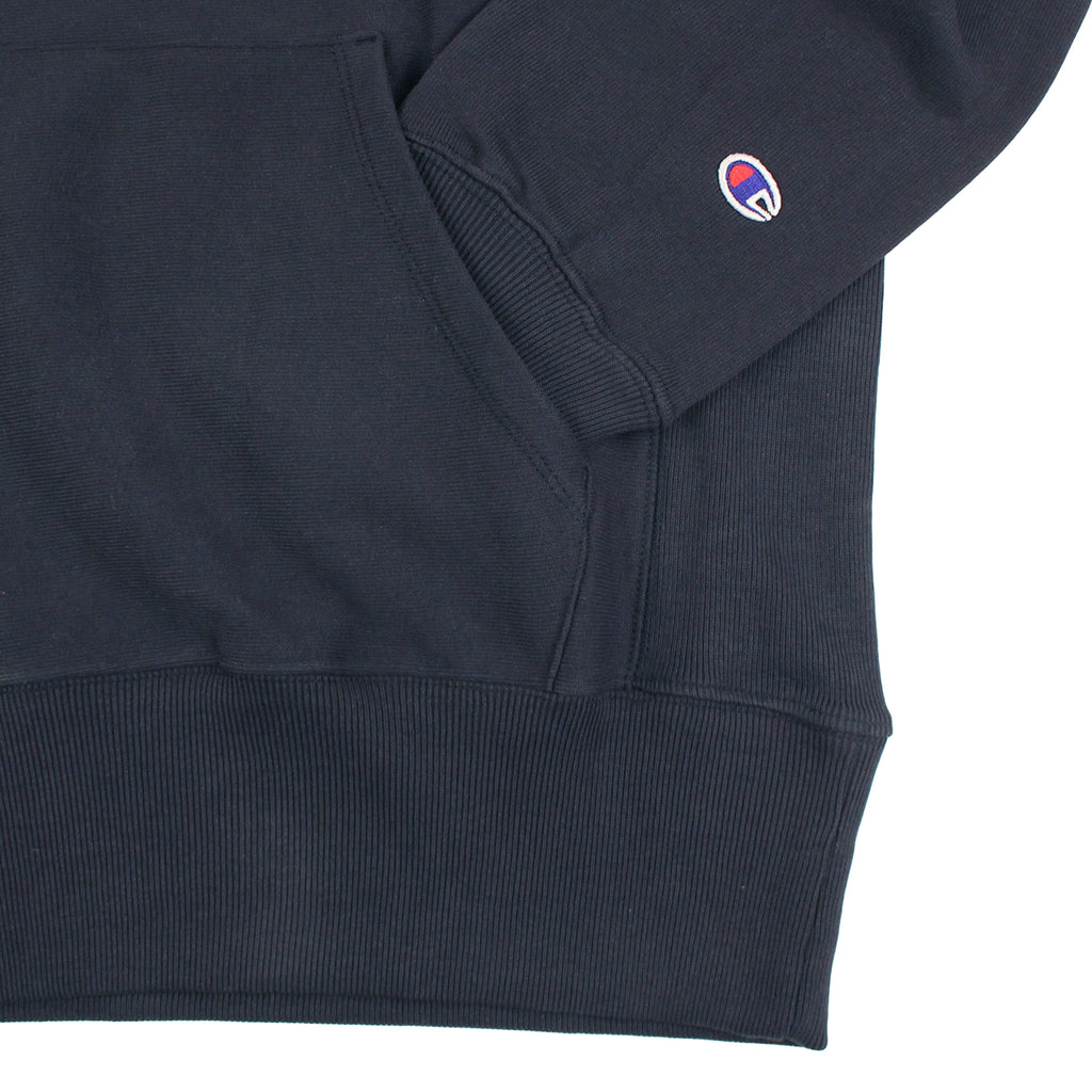Champion Reverse Weave Hoodie in Navy - Cuff