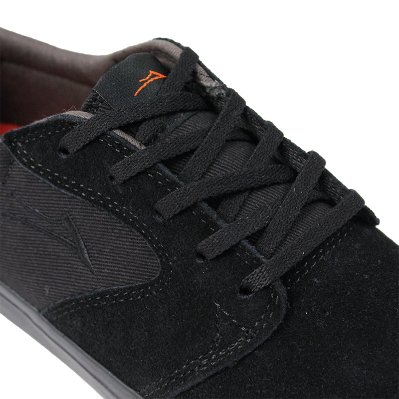 Lakai Fura Anchor in Black / Black Suede - Detail