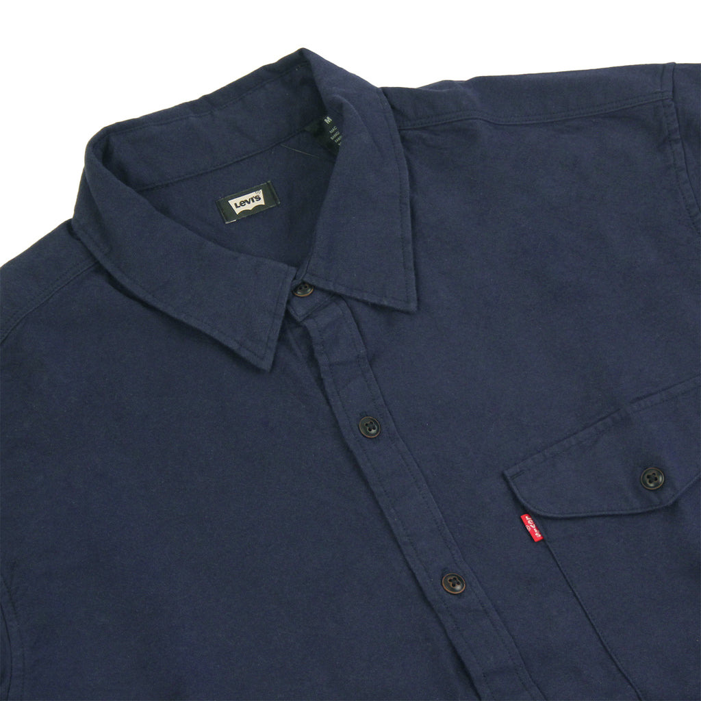 Levis Skateboarding Reform Shirt in Night Sky - Detail