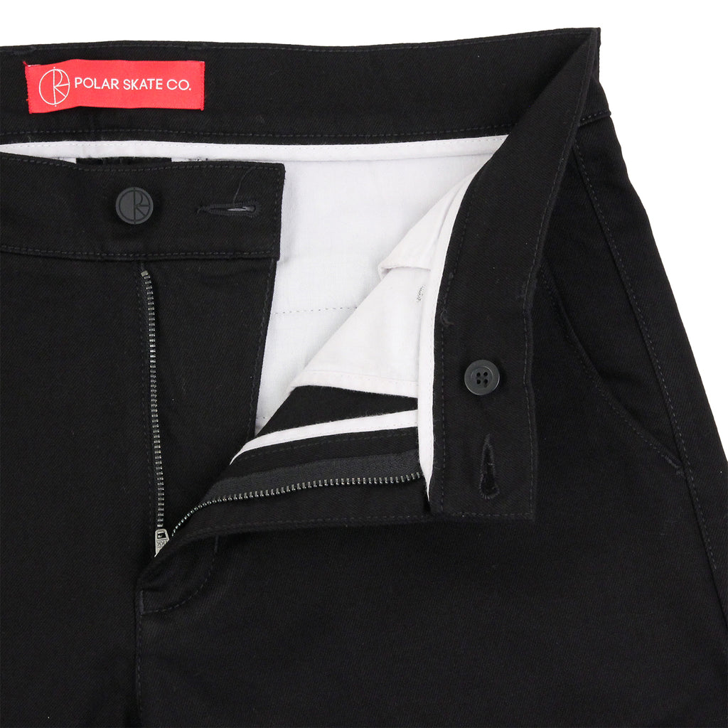Polar Skate Co Flamingo Chino in Black - Unzipped