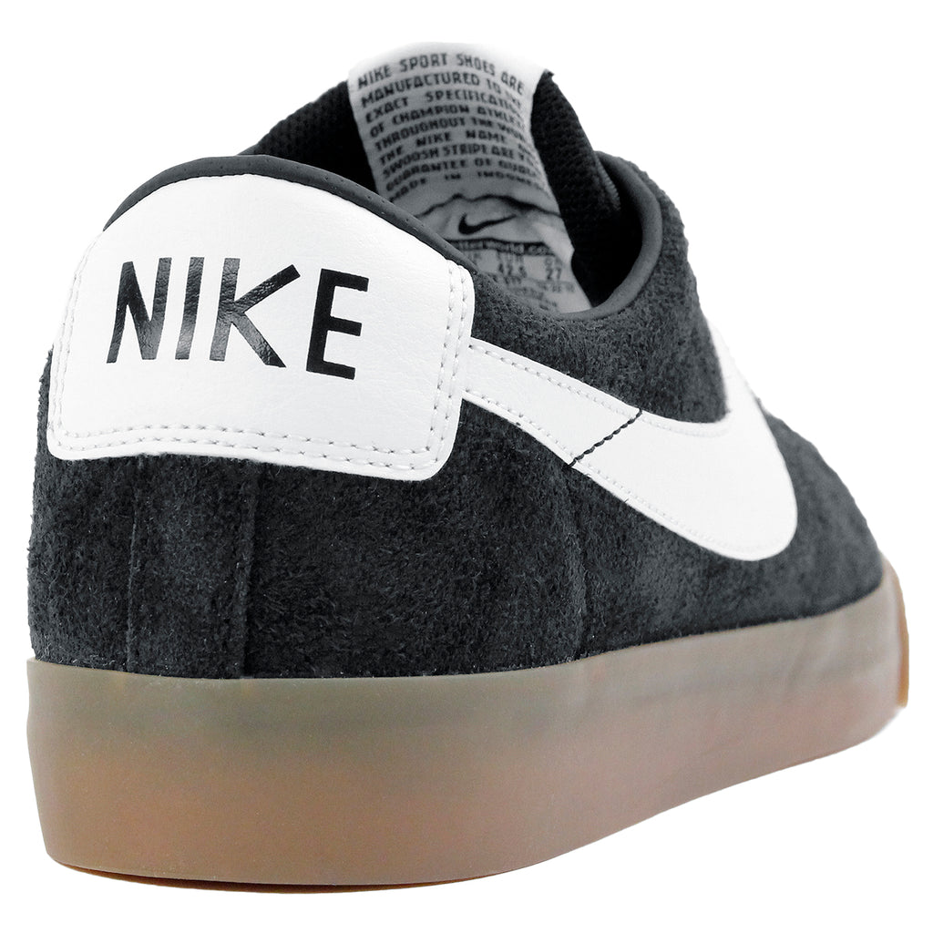 Nike SB Blazer Low Grant Taylor Shoes in Black / White - Metallic Gold - Heel
