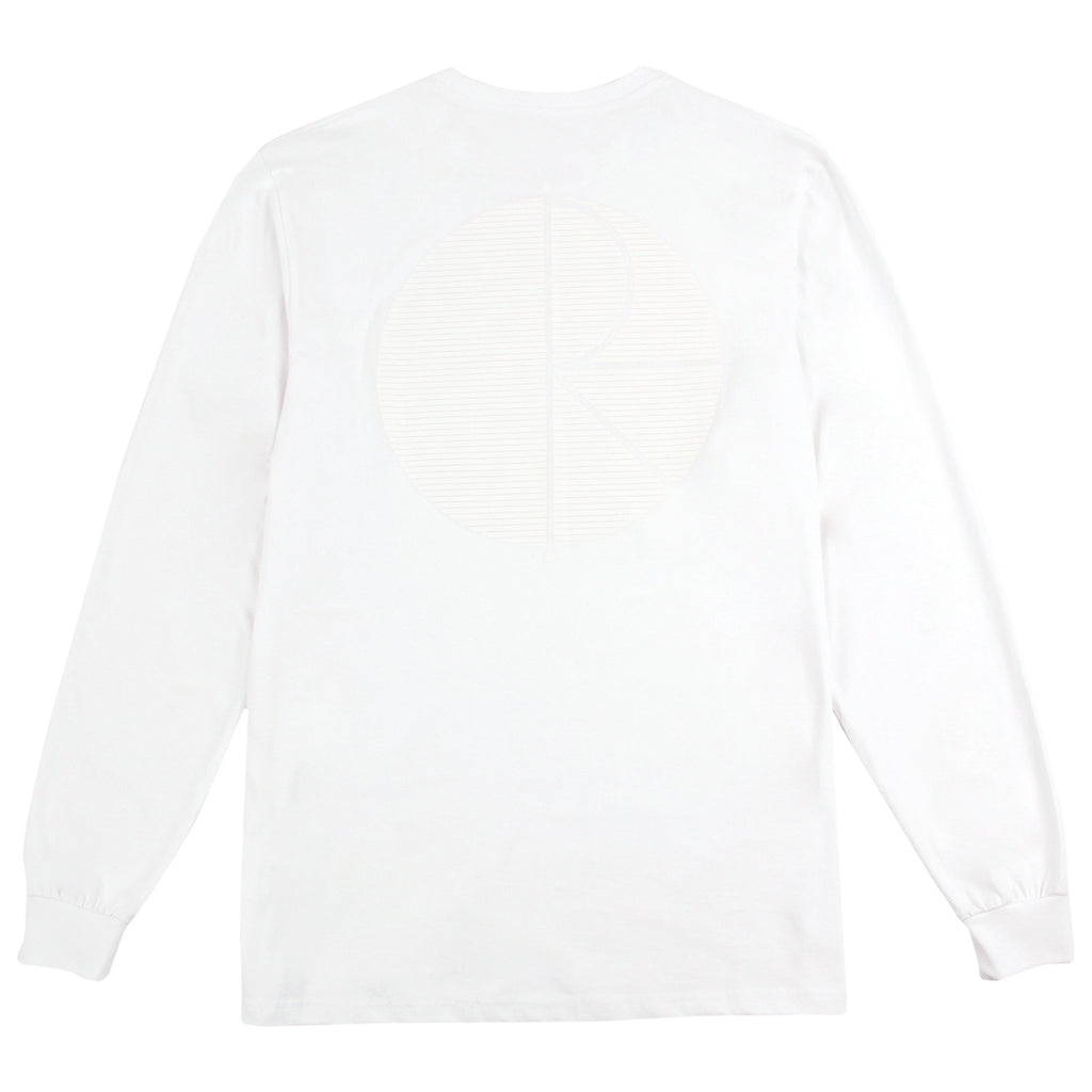 Polar Skate Co Behind The Curtain L/S T Shirt in White / White / White