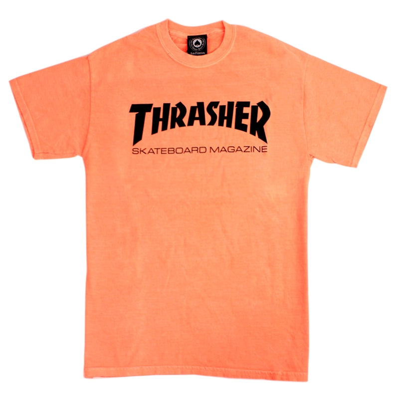 7b8bf3b26448 Skate Mag Logo T Shirt in Neon Orange by Thrasher Magazine