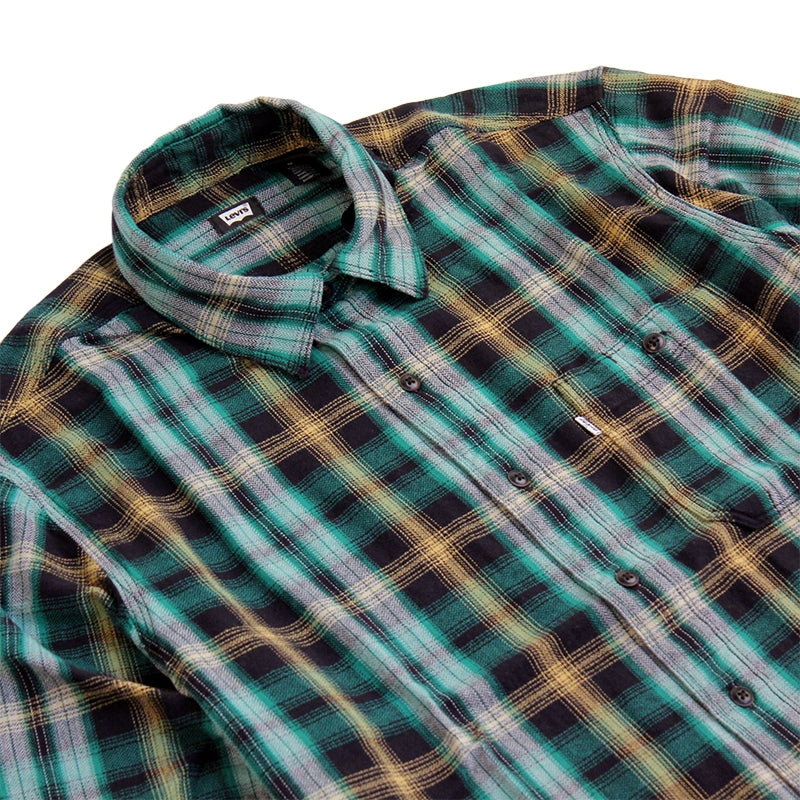 Levi's Skateboarding Collection Maker Shirt in Plaid Verte - Detail