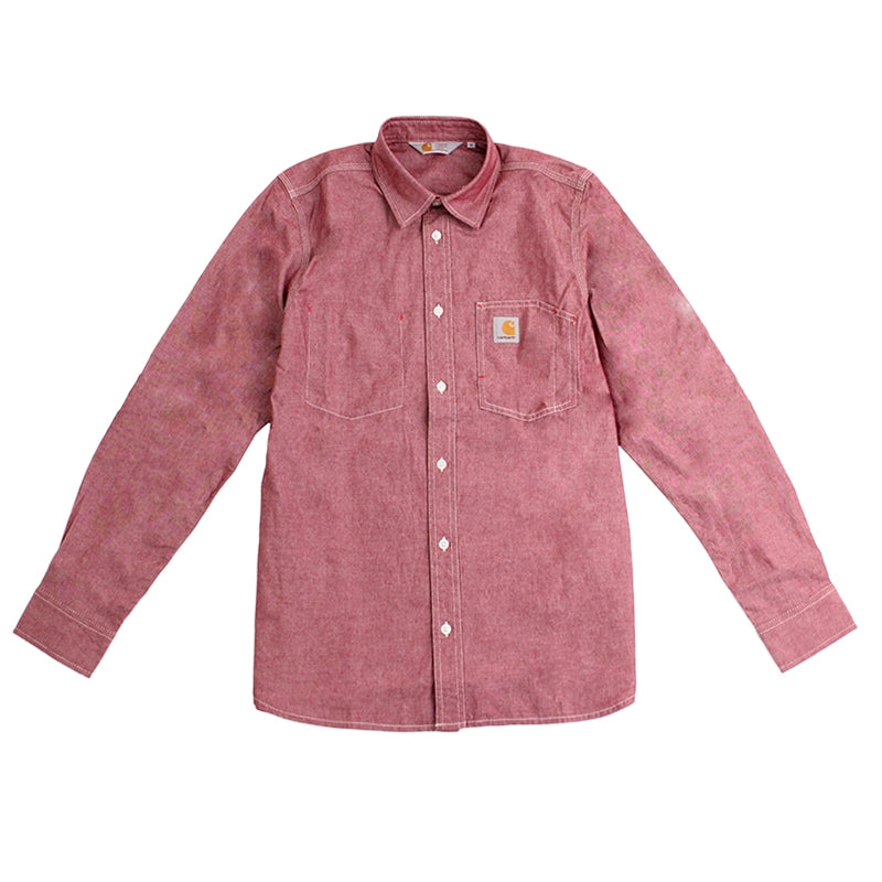 Carhartt State L/S Shirt in Cordovan Rinsed