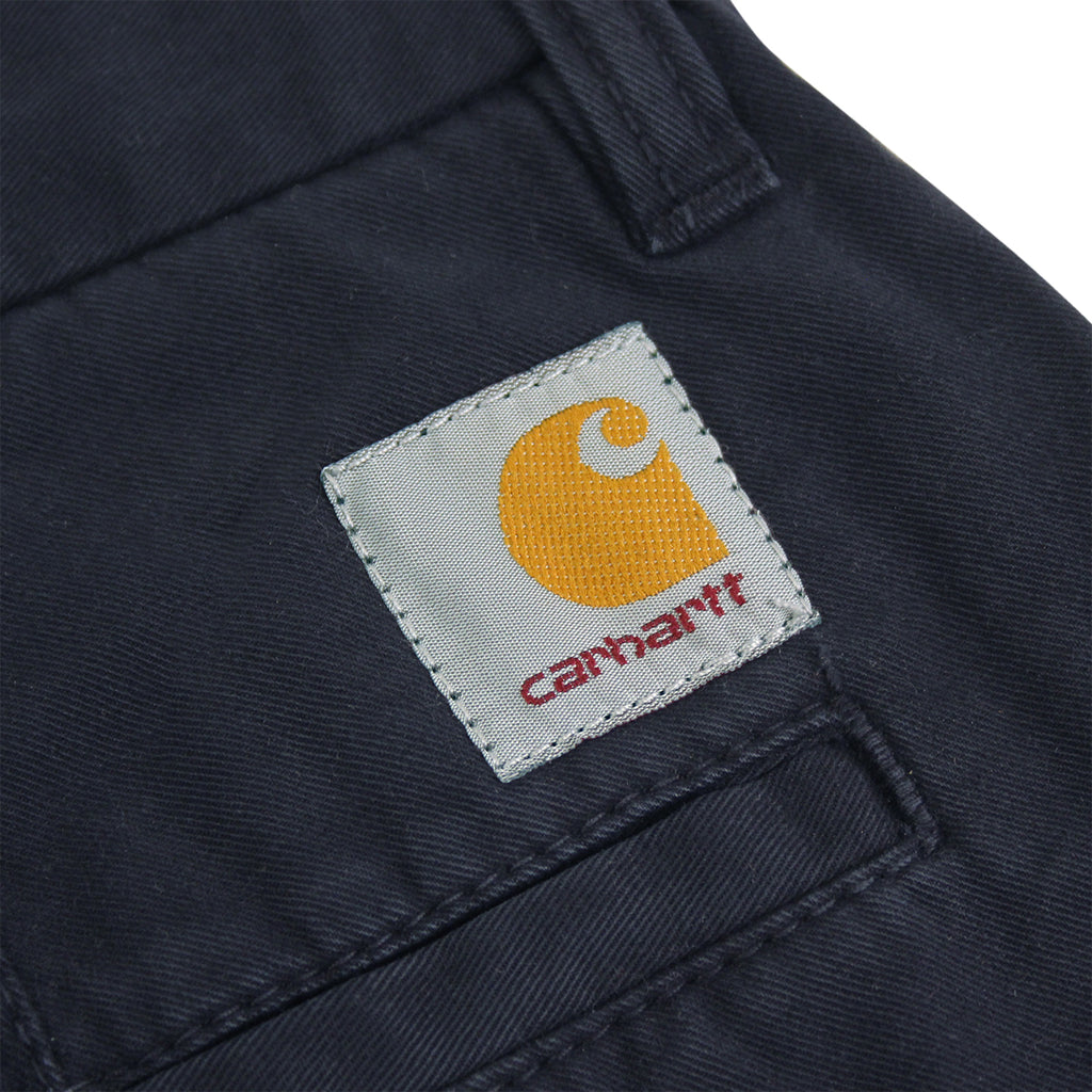 Carhartt Johnson Short in Duke Blue - Label