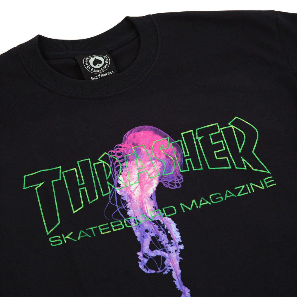 f2777b86347a x Atlantic Drift T Shirt in Black by Thrasher | Bored of Southsea