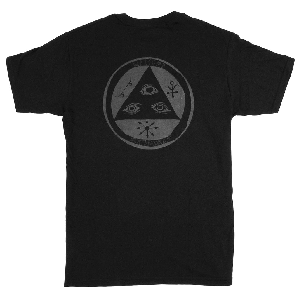Welcome Skateboards Talisman T Shirt in Black / Glow
