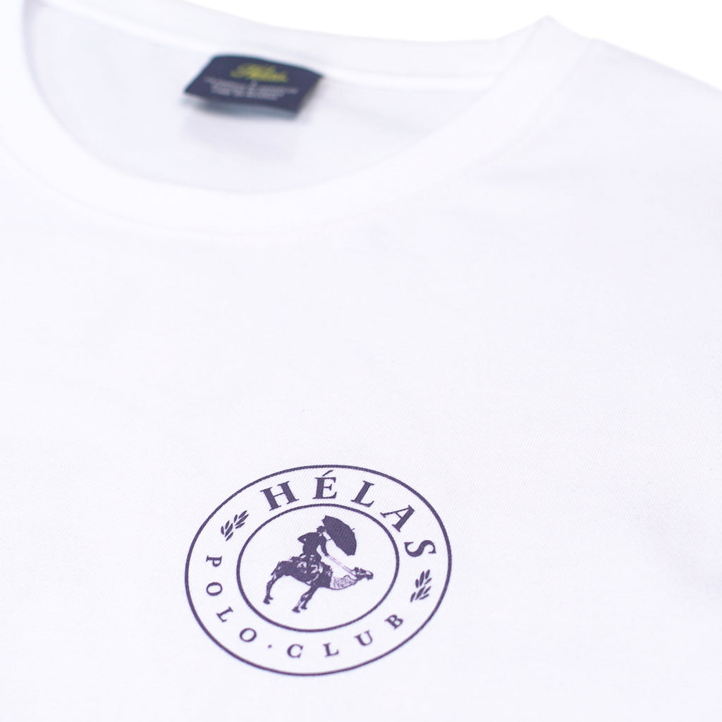 Helas Polo Club T Shirt in White - Detail