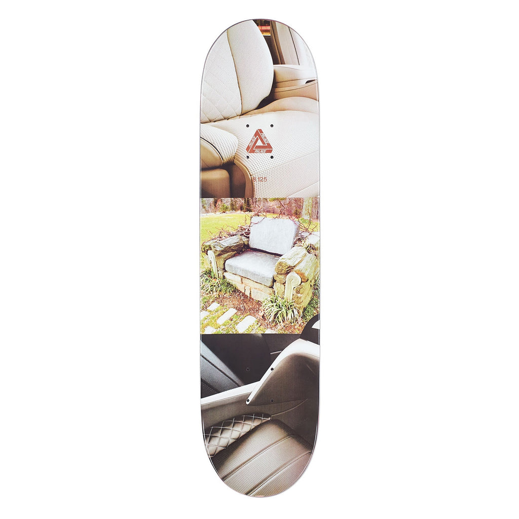 "Palace Brady Pro Interiors Skateboard Deck in 8.125"" - Top"