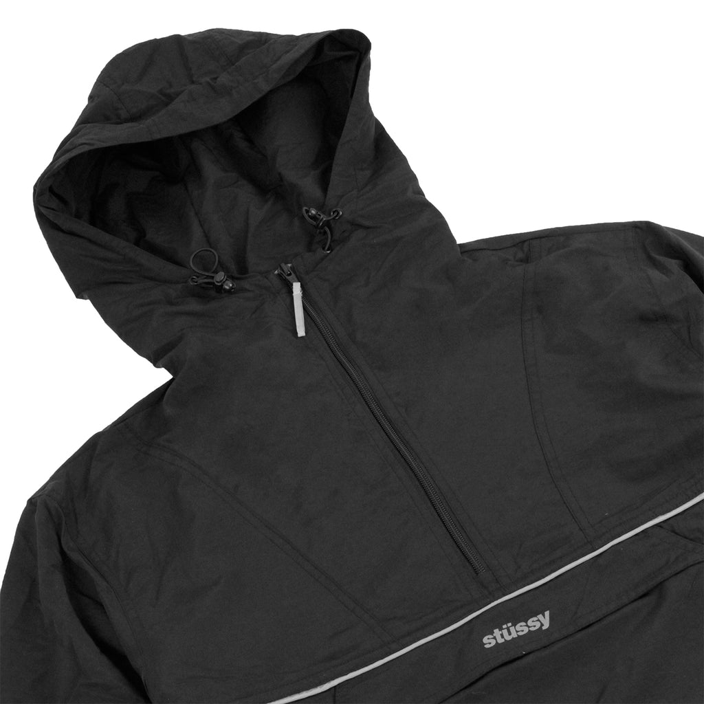 Stussy Reflective Sports Pullover Jacket in Black - Detail