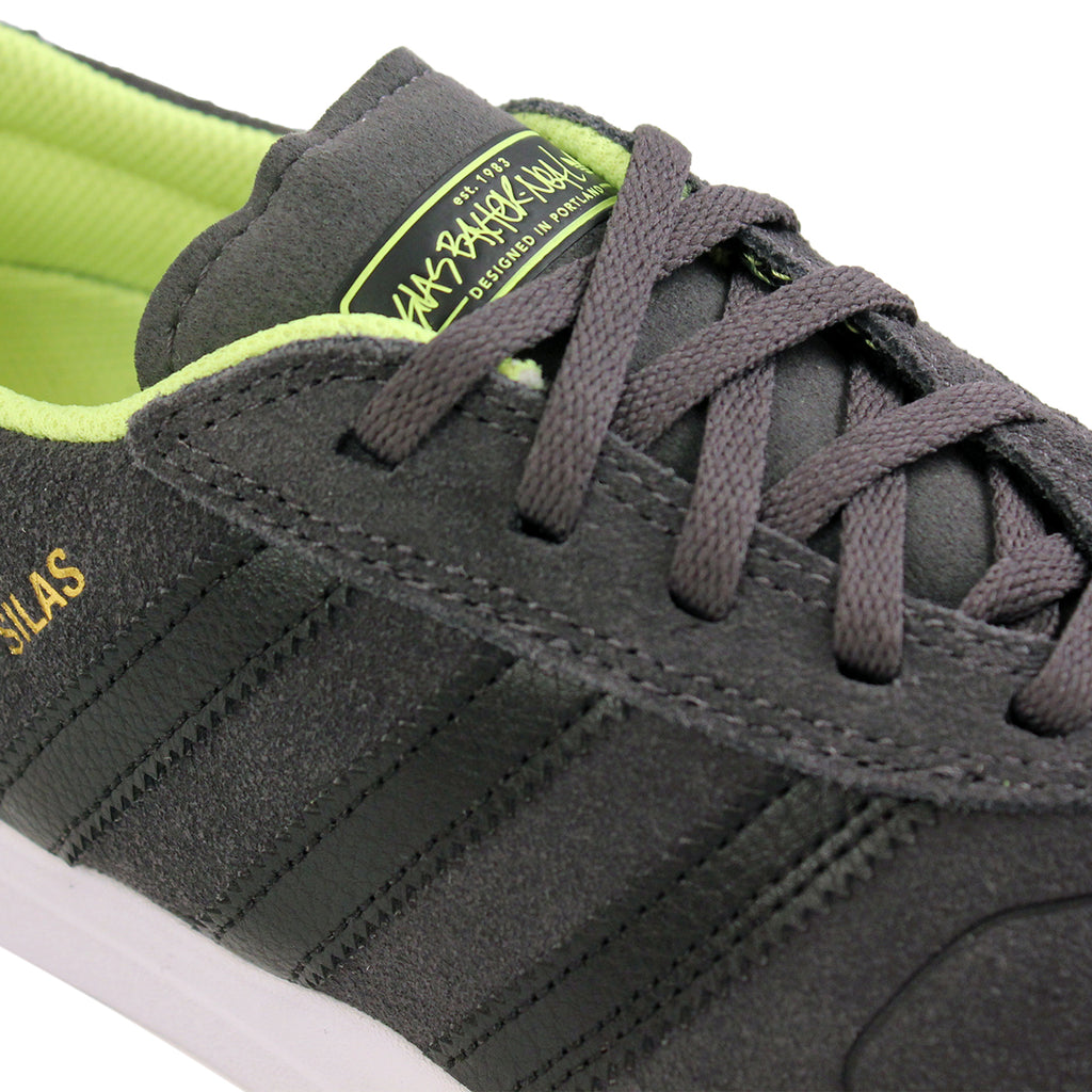 Adidas Skateboarding Silas ADV Shoes in Solid Grey/Black/Solar Yellow - Detail