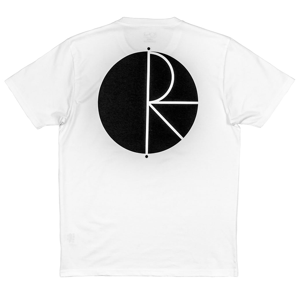 Polar Skate Co Fill Logo T Shirt in White / Black