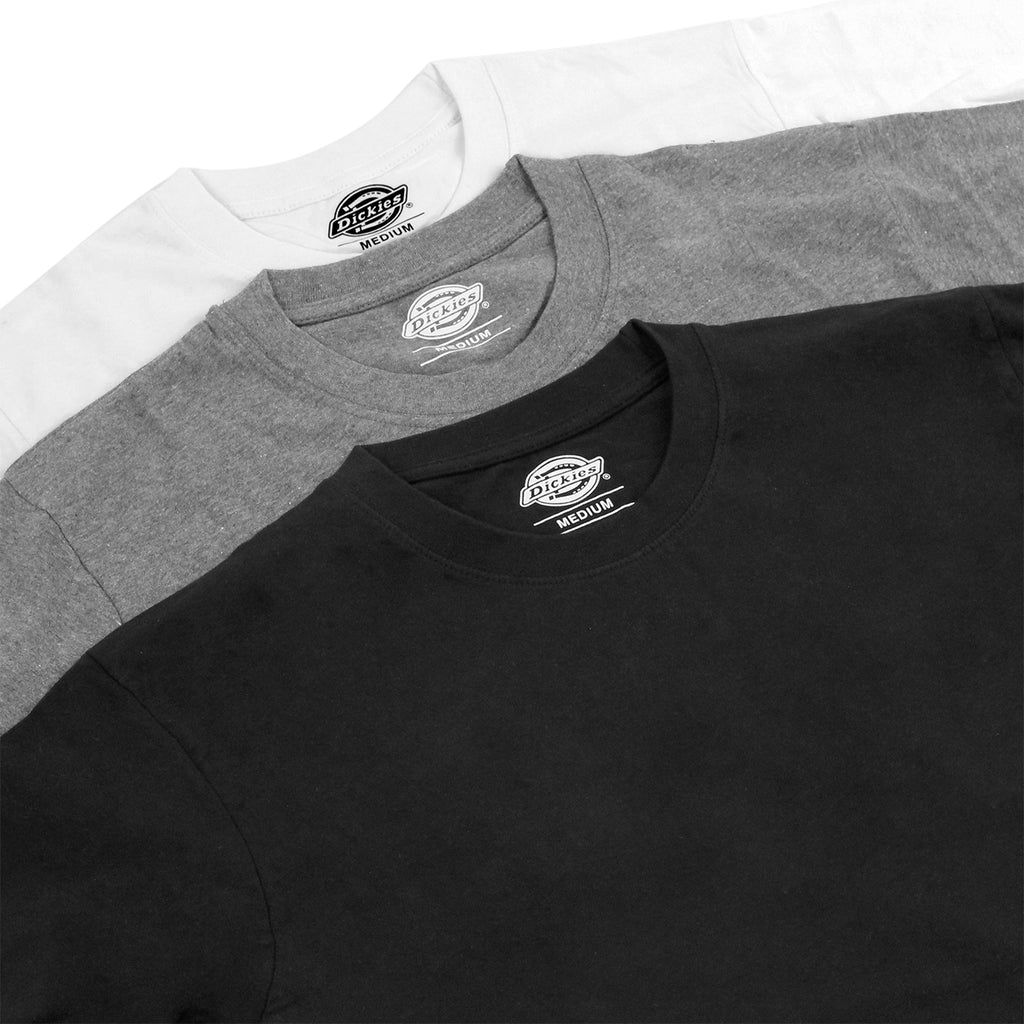 Dickies 3 Pack T Shirts in Mixed - Detail