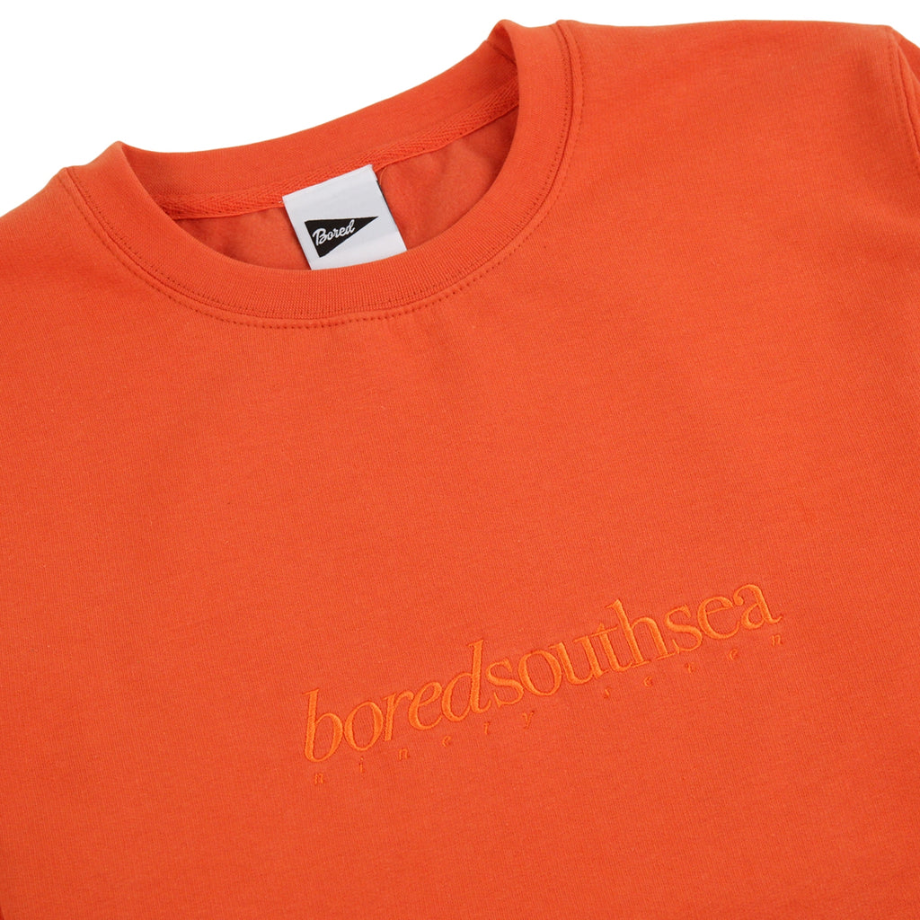 Bored of Southsea Hammer Sweatshirt in Burnt Orange / Burnt Orange - Detail